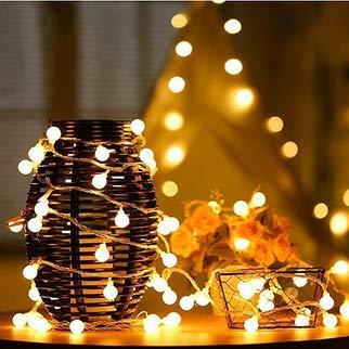 Festival,Mariage Anniversaire Soir/ée Party etc. Jardin Nasharia 5m 50 Boule LED Guirlande lumineuse,Blanc Chaud D/écoration Romantique pour Maison Aliment/é par Batterie