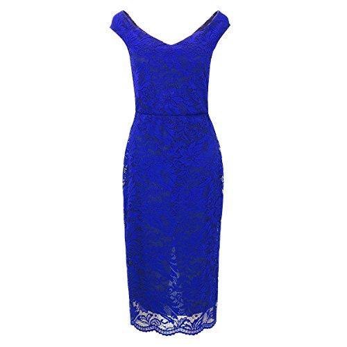 Laeticia Dreams - Vestido - Noche - Básico - Sin mangas - para mujer Azul Real