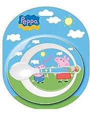 Stor - Peppa Pig-set mikrovågsugn 2-delad 85278 svart, medium