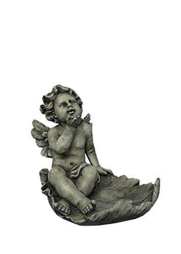 - Hi-Line Gift Ltd Angel Sitting on a Leaf Multi-Purpose Birdfeeder Statue