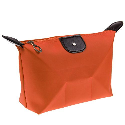 Orange Multifunction Travel Cosmetic Bag Makeup Pouch Toiletry Zipper Wash (Ebola Halloween Costume For Women)