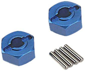 Traxxas 1654X Lightweight Blue-Anodized Aluminum Hex Wheel Hubs (2) and Axle Pins ()