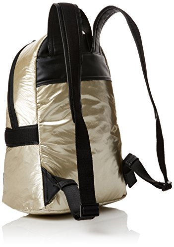 Calvin Klein - Fluid Backpack Metalic, Mochilas Mujer, Gold (Cement), 18x40x30 cm (B x H T)