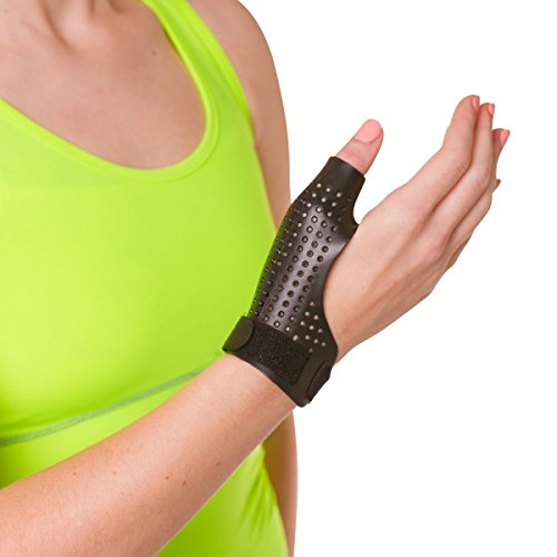 BraceAbility Hard Plastic Thumb Splint | Arthritis Treatment Brace to Immobilize & Stabilize CMC, Basal and MCP Joints for Trigger Thumb, Tendonitis Pain, Sprains (Small - Right Hand) - Rigid Splint