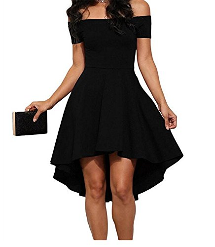 90s Plus Fancy Size Dress (Women Off The Shoulder Short Sleeve High Low Cocktail Skater Dress (xl,)