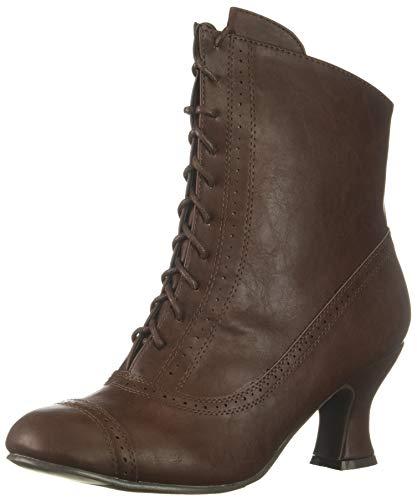 Ellie Shoes Women's 253-SARAH Mid Calf Boot, Brown, 8 M US
