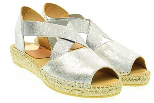 Kanna Zapatos Ada Alpargatas, Mujer Plateado