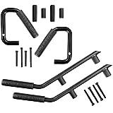 u-Box Jeep Wrangler Black Grab Handle Solid Steel Front & Rear Grabar Kit for 2007-2018 Jeep Wrangler Unlimited 4-Door