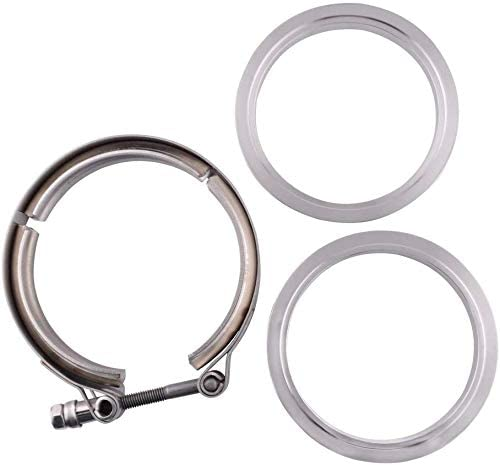 New Stainless Steel Exhaust V Band Clamp Male Female Flange 4 Inch