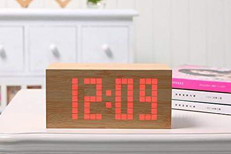 YiRong Led Digital Light Madera Reloj compacto Mini ...