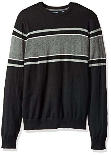 IZOD Men's Fine Gauge Crew Sweater, Black, Large by IZOD (Image #1)