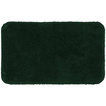 Royale Hunter Green Plush Nylon Bath Rug (24u0026quot; X 40u0026quot; ...