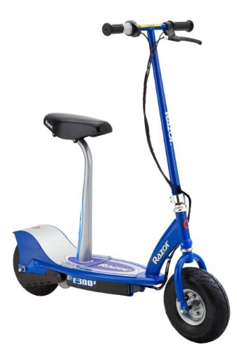 Electric Scooter With Seat >> Amazon Com Razor E300s Seated Electric Scooter Blue 41 X 17 X 42