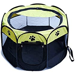 Soft Sided Pet Carrier Portable Folding Pet Dog Cat Cage Playpen House Tent Kennel Easy Operation Comfortable Fence Outdoor Supplies Type 1 Size 70x70x45cm