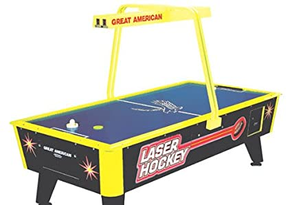 Amazon great american laser air hockey table with overhead great american laser air hockey table with overhead electronic scoring greentooth Images