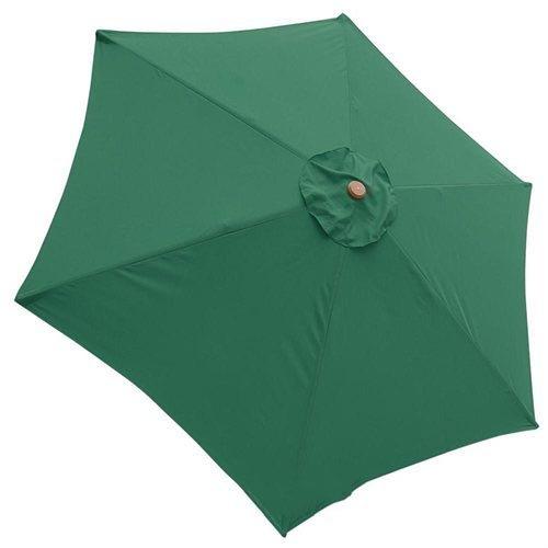 Bellrino 9 ft 6-Rib Patio Umbrella Replacement Canopy Green