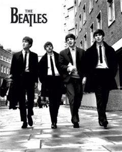 Beatles Black Ties John Lennon Rock Music Poster 16 x 20 inches