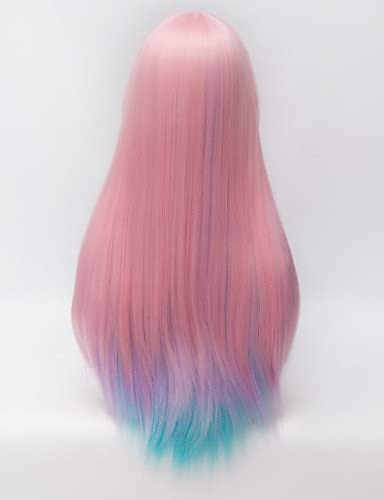 AbigaHair A harajuku la moda bicolor azul pelo largo ...