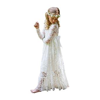 Lace flower girl dress nzx