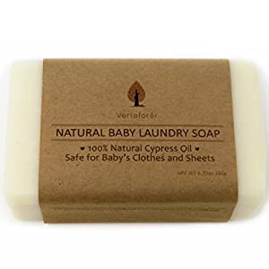 All Natural Baby Laundry Soap Bar - Pack of 2. Stain Remover Baby Clothes, Laundry Soap New Born, Washing Bar Laundry, Laundry Bar Soap for Travel, Laundry Bar Soap for Underwear by Verteforet