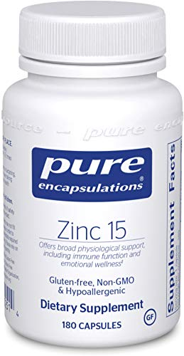 Pure Encapsulations – Zinc 15 – Zinc Picolinate (15 mg.) Highly Absorbable Hypoallergenic Supplement for Immune Support* – 180 Capsules