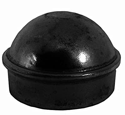 "2-3/8"" Chain Link Fence Post Cap - Use for 2-3/8"" Outside Diameter Post/Pipe - BLACK Powder Coated Aluminum Chain Link Post Cap"