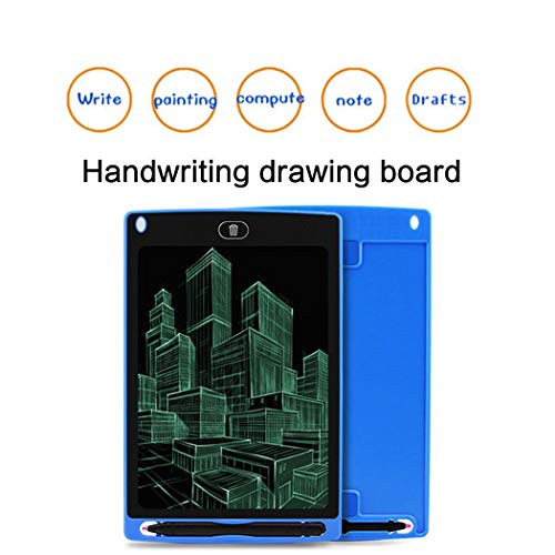 sholdnut 8.5inch Kids Mini LCD Writing Pad Tablet Drawing Memo Board with Handwriting Pen for Writing,Painting (Blue)
