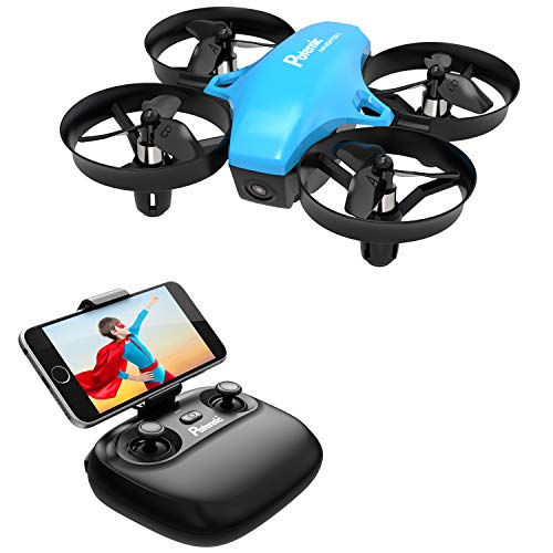 Potensic A20W Mini Drone for Kids with Camera, Kid Toy Portable RC Quadcopter 2.4G 6 Axis - Altitude Hold, Headless, Remote Control Airplane, Route Setting, Real Time FPV and Detachable Battery