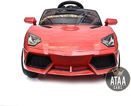 ATAA Coche eléctrico niños Super Deportivo 12v con Mando Remoto - Potente batería 12v - Rojo
