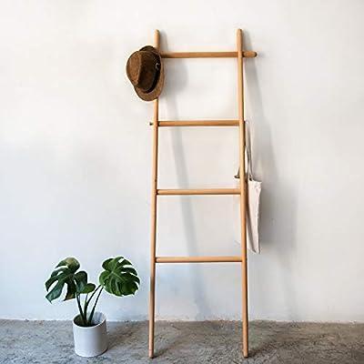 lianlian Hangers Perchas de Madera Maciza de Destino de Creatividad Escalera Sombrero de la Ropa del Estante, Tamaño: 170x45x52cm, Haya: Amazon.es: Hogar