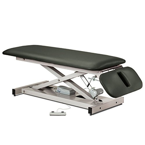 - Treatment Exam Table Power height Drop section Space saver Gunmetal