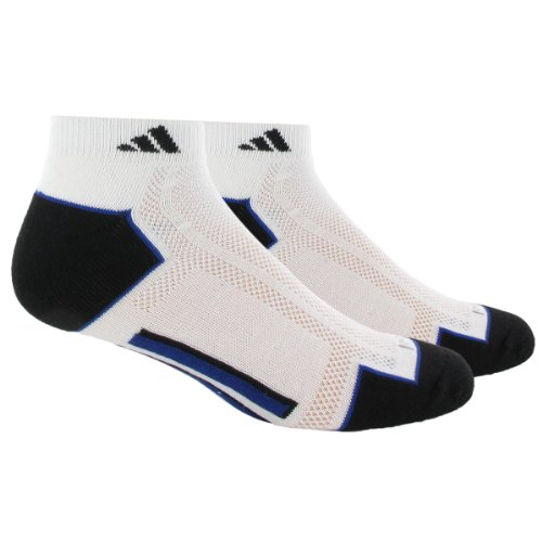 adidas Men's Climacool II Low Cut Sock (2-Pair), White ...