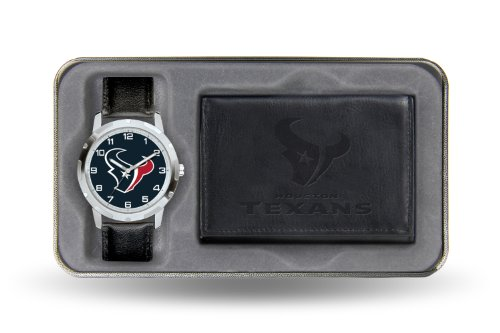 NFL Houston Texans Men's Watch and Wallet Set