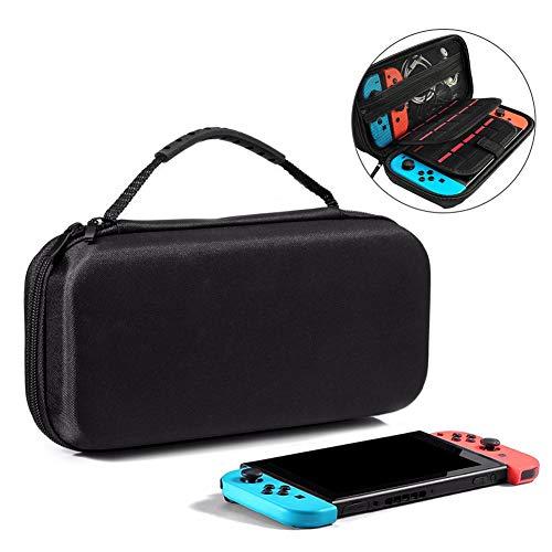 VAGHVEO Nintendo Switch 케이스 보호 커버 소취 처리내 충격 방수해 방지오 20 매게임 카드 수납 가방 대용량 소품 수납 가능 운반 편리 - 블랙