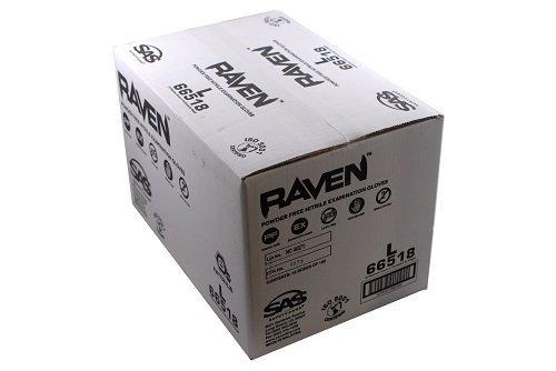 SAS Safety 66518 Raven 6 mil Black Nitrile Disposable Gloves Large 10 Pack(100 Gloves per Box) [並行輸入品] B01LFPM7R2