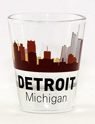 Detroit Michigan Sunset Skyline Shot ()