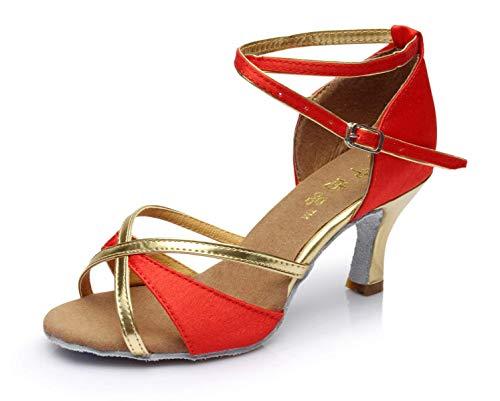 5 Talons uk5 Redheeled5cm Femme samba Chaussures chacha Noirheeled5cm Eu38 Hhgold Our39 Sandales chaussures Pour À Salsa Danse Latine tango Hauts moderne De Jazz ZHZxqUBS