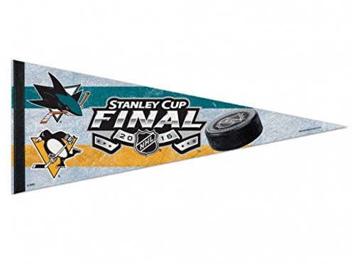 Pittsburgh Penguins San Jose Sharks NHL 2016 Stanley Cup Final Felt Pennant