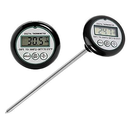 jiguoor Digital LCD de alimentos y sonda de termómetro de cocina barbacoa, cocina traje de