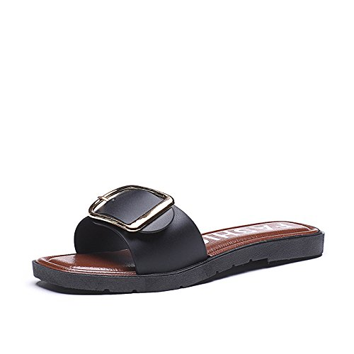 ZPPZZP Ms sandalo confortevole e di stile minimalista leisure nero 38EU