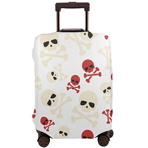 - Skulls Crossbones Luggage Protector Baggage Case with Zipper, Dustproof Waterproof Anti-Scratch Elasticity Luggage Suitcase Cover Baggage & Luggage Tag