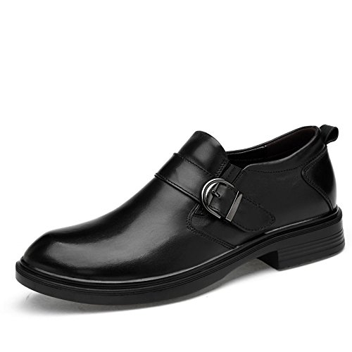 LHLWDGG.K Zapatos De Cuero Para Hombres Zapatos De Vestir Cómodos Para Hombres Zapatos Oxford Para Negocios, Negro 1,11 11|black 1