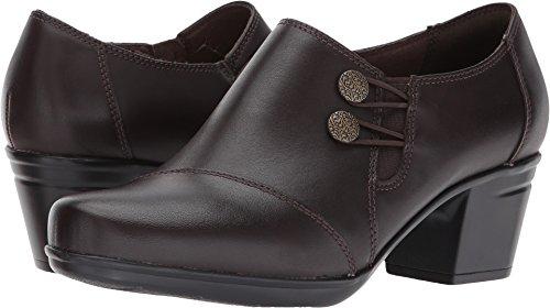 Clarks Women's Emslie Warren Slip-on Loafer,Dark Brown,7 M US