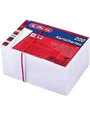 Herlitz 50019397 indexkaart A8, wit, 170 g/m2, 200 stuks gelast