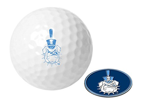 Bulldogs Logo Golf Balls (NCAA Citadel Bulldogs - Golf Ball One Pack with Marker)