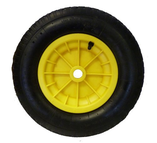 16 (4.80/4.00 - 8) Pneumatic Wheelbarrow Wheel (YELLOW) Launching Trolley by Keto Plastics by Keto Plastics