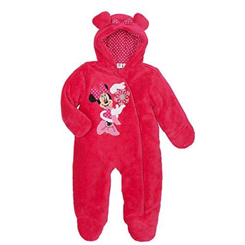 Disney Infant Girls Plush Pink Minnie Mouse Snowsuit Baby Pram Snow Suit 6m