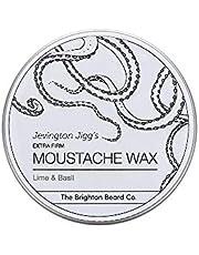 Brighton Beard Company Jevington Jiggs's Lime & Basil Extra Firm Moustache Wax, Handmade & Reworkable Wax 30ml