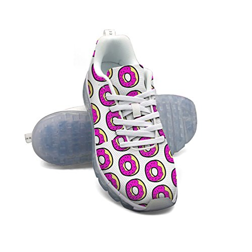 FAAERD Donuts Pink Women's Breathable Mesh Air Cushion Casual Fashion Sneakers Athletic Gym Walking Sports Running Shoes free shipping new styles newest cheap price free shipping pre order 4EDm7AFN