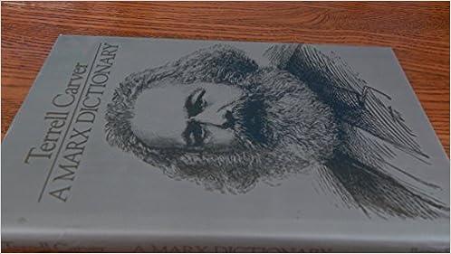A Marx Dictionary, Carver, Terrell